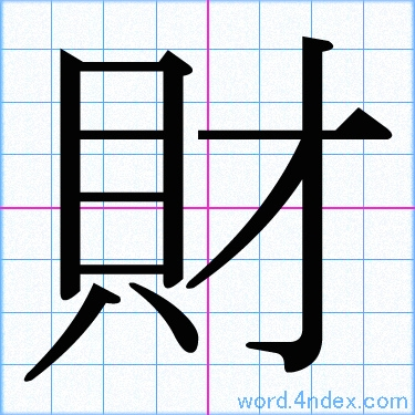 「財」漢字書き方 かっこいい財